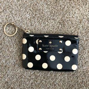 kate spade black and white polka dot wallet